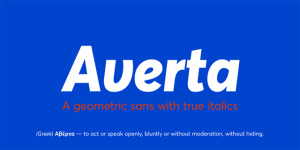 averta font billboard